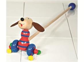 Gåpinne - Gåpinne hund brun