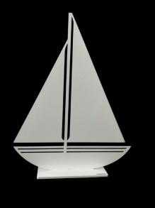 Segelbåt - Segelbåt 30cm vit
