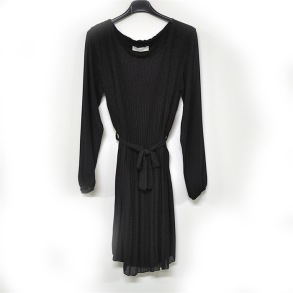 Klänning Plisserad - Svart klänning plisserad