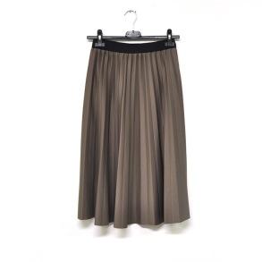 Plisserad kjol - Plisserad kjol fango