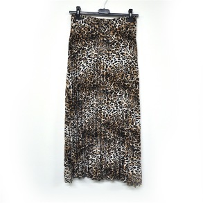 Kjol Leopard - Kjol plisserad leopard