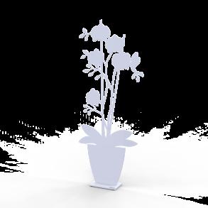 Orkidé i kruka - Orkidé i kruka vit 50 cm