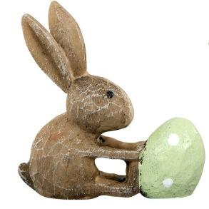Kaniner med ägg - Kanin med grönt ägg