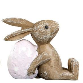 Kaniner med ägg - Kanin med rosa/lila ägg