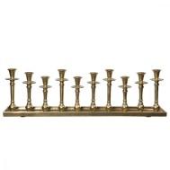 Ljusbricka/ljusstake antik guld