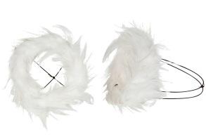 Bukettrede fjäder vit - Bukettrede fjäder vit