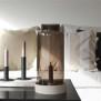 Storm ljuslykta/ljusstake - Storm brun glascylinder med kant