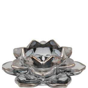 Ljuslykta Lotus - Ljuslykta lotus grå