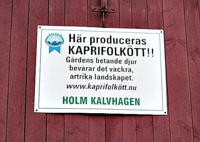 Kaprifolkött - en förening som säljer kött från ekologiska gårdar som betar naturbetesmarker.
