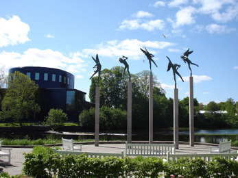 Milles statyer och Konserthuset, Gävle kommun