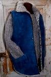 blå skinnväst