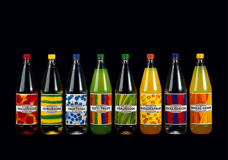 Design and illustrations for a swedish soda brand.