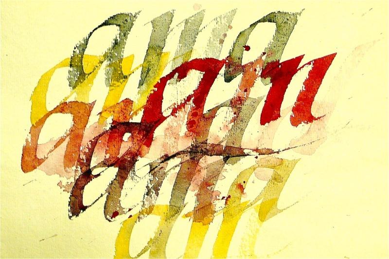 Fri kalligrafi till ett CD-omslag för klassisk musik.