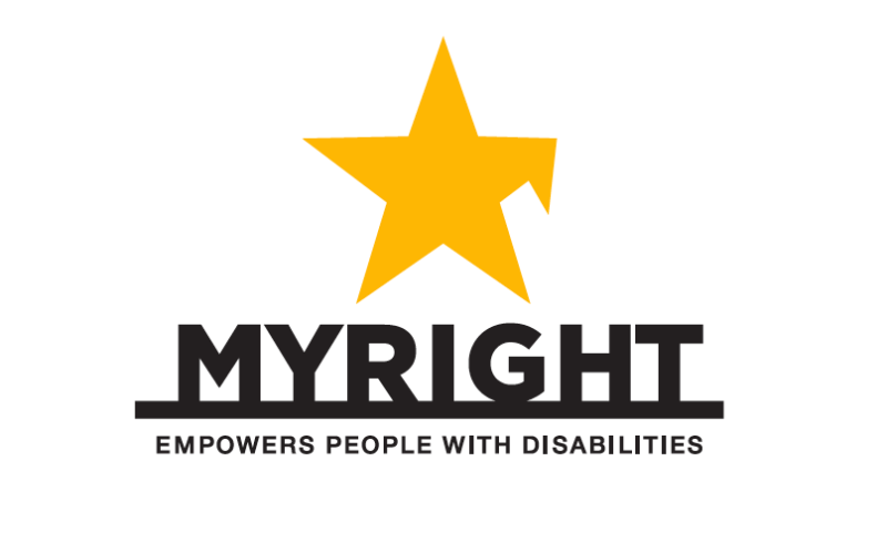 Namn, logotyp och symbol för MyRight.