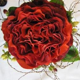 Brudbukett_röd ros