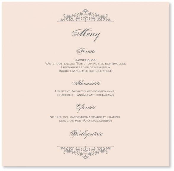 Följande meny, komponerad av Sveriges Mästerkock Louise Johansson, kommer att serveras på Weddingevent 22 oktober.