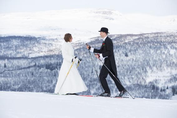 Ramundsberget vinterbröllop