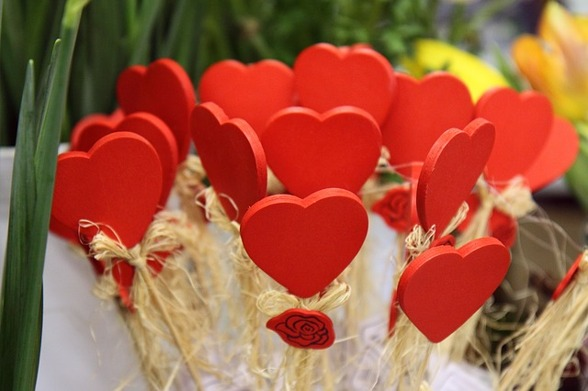 Alla hjärtans dag den 14 februari. Foto: Pixabay