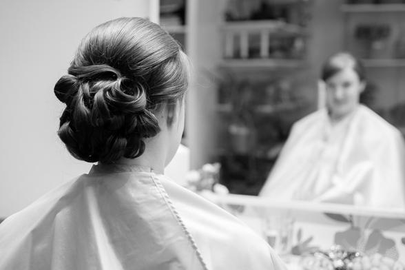 håruppsättning slöja