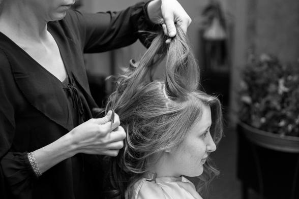 håruppsättning bröllop