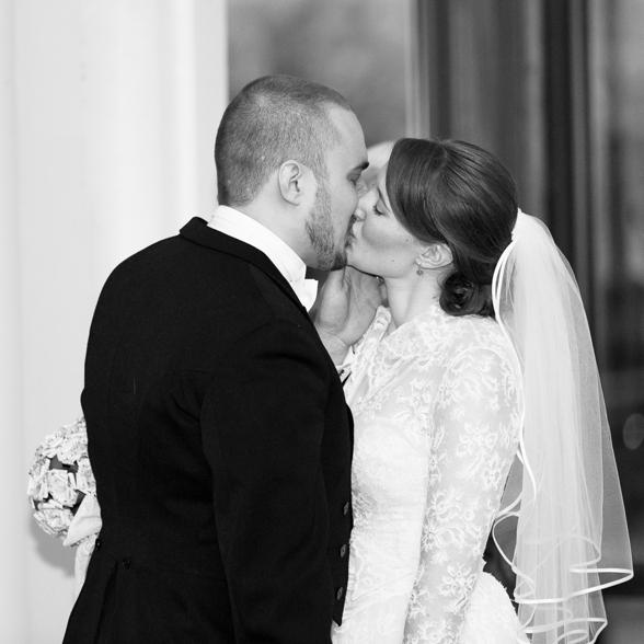 perfekt bröllopskyss