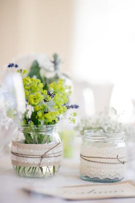 Dekorationer, Linn & Mattias bröllop Foto: Malin Sydne
