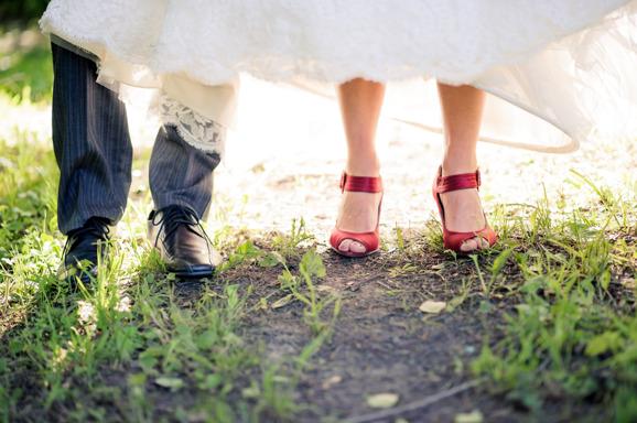Skor, Linn & Mattias bröllop Fotograf: Malin Sydne