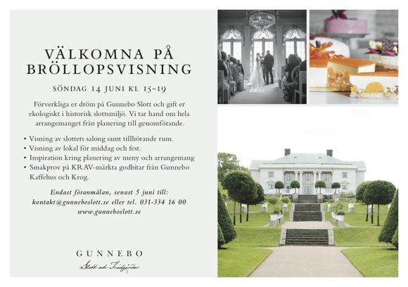Gunnebo slott bröllopsvisning