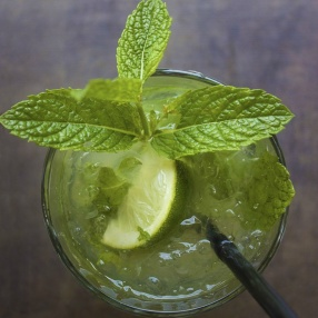 Grön drink: mojito
