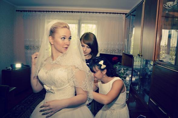 Brud med brudslöja