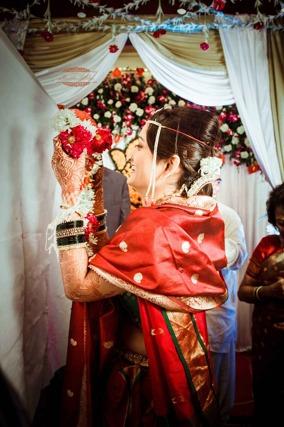 Indisk brudklänning röd_Pixabay