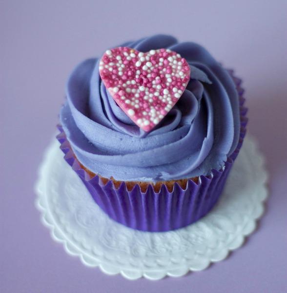 Ekologiska Cupcakes att fira alla hjärtans dag med!