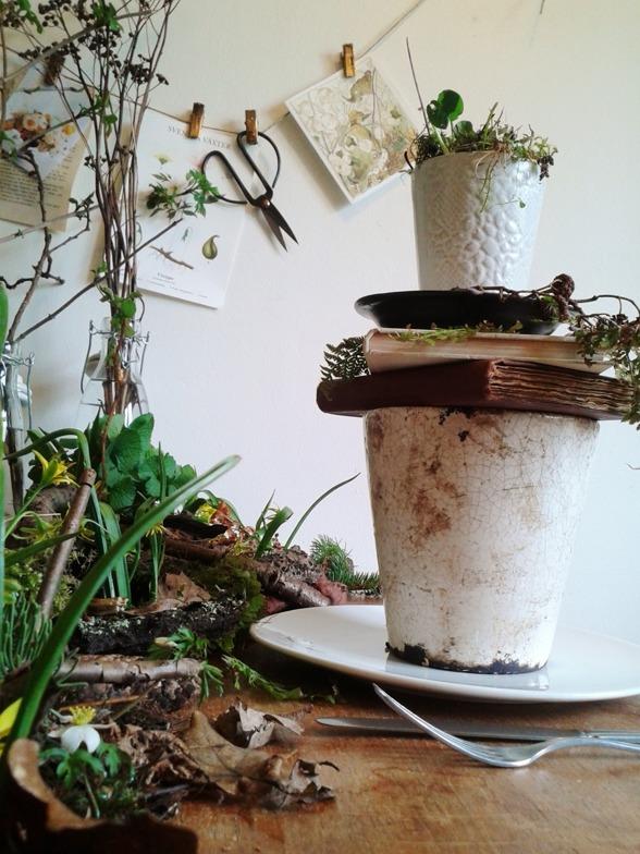 Tina Larsson florist, miljövänligt, ekologiskt, bröllopsdukning
