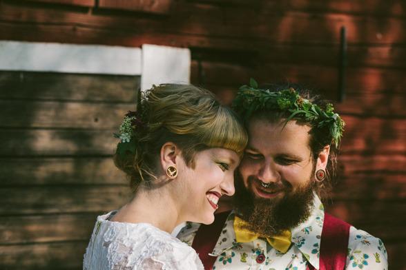 Annika och Robins ekologiska bröllop på landet