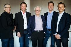 Vår styrelse 2015. Rune direkt såg nyttan med att få in även Hans Tilly, fd ordförande i Byggnads, som extern ledamot.