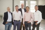 Diparts styrelse, från vänster; styrelseledamot Hans Tilly, delägare Thomas Frankborn, ordförande Erik Alteryd,delägare Mats Hoffmann samt delägare och VD Jens Hoffmann.