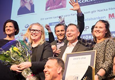 Vi fick utmärkelsen Årets NackaFöretag 2017