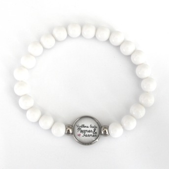 Världens bästa mormor & farmor - vitt armband