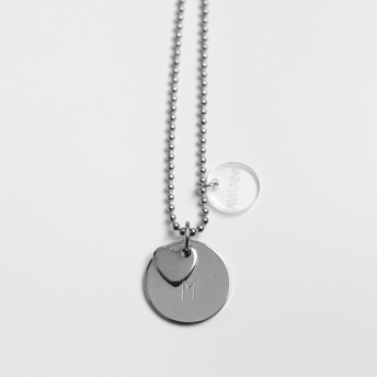 Halsband - Namnsmycke - Halsband - Namnsmycke en bricka +hjärta