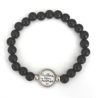 Världens bästa farmor - svart armband