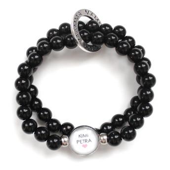 Mamma armband - Mamma armband set svart/silver
