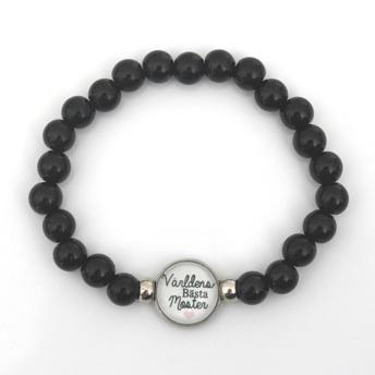 Världens bästa moster - Svart armband