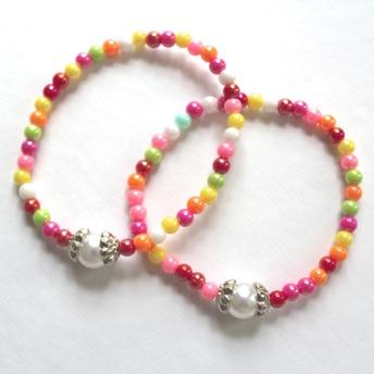 Barn armband - Stor pärla i med olika färger
