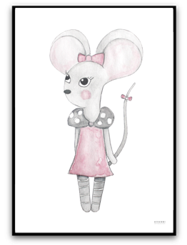 Lilly mouse - A4 matt fotopapper