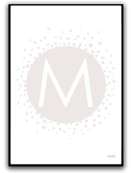 Poster - Välj egen bokstav - Brun A4 matt fotopapper