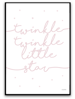 Twinkle twinkle little star - Dimrosa matt fotopapper A4