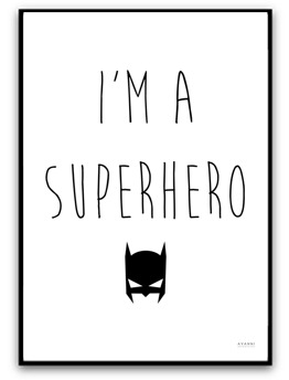 i'm a superhero - A4 matt fotopapper