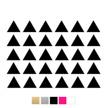 Wall stickers Trekanter - Svart