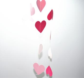 Girlang - Rosa hjärtan -