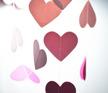 Girlang - Rosa hjärtan